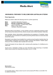 New citizens - Moorabool Shire Council