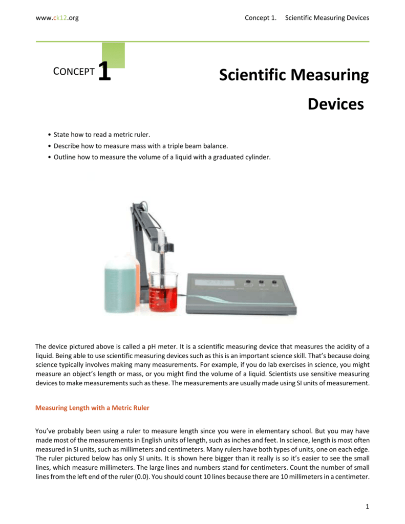 measuring mass with a balance