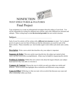 Biography Newspaper Final Project