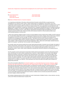 Sample Letter of Appeal for Experimental & Investigational