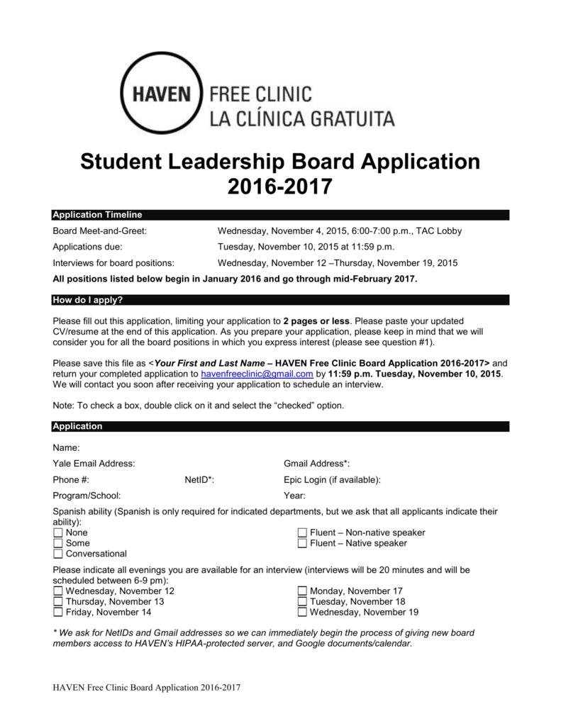 Leadership Board Application
