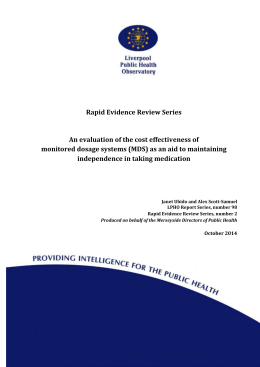 Rapid Evidence Review - Monitored Dosage System