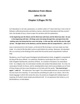 Abundance From Above John 3:1-16 Chapter 5 (Pages 70