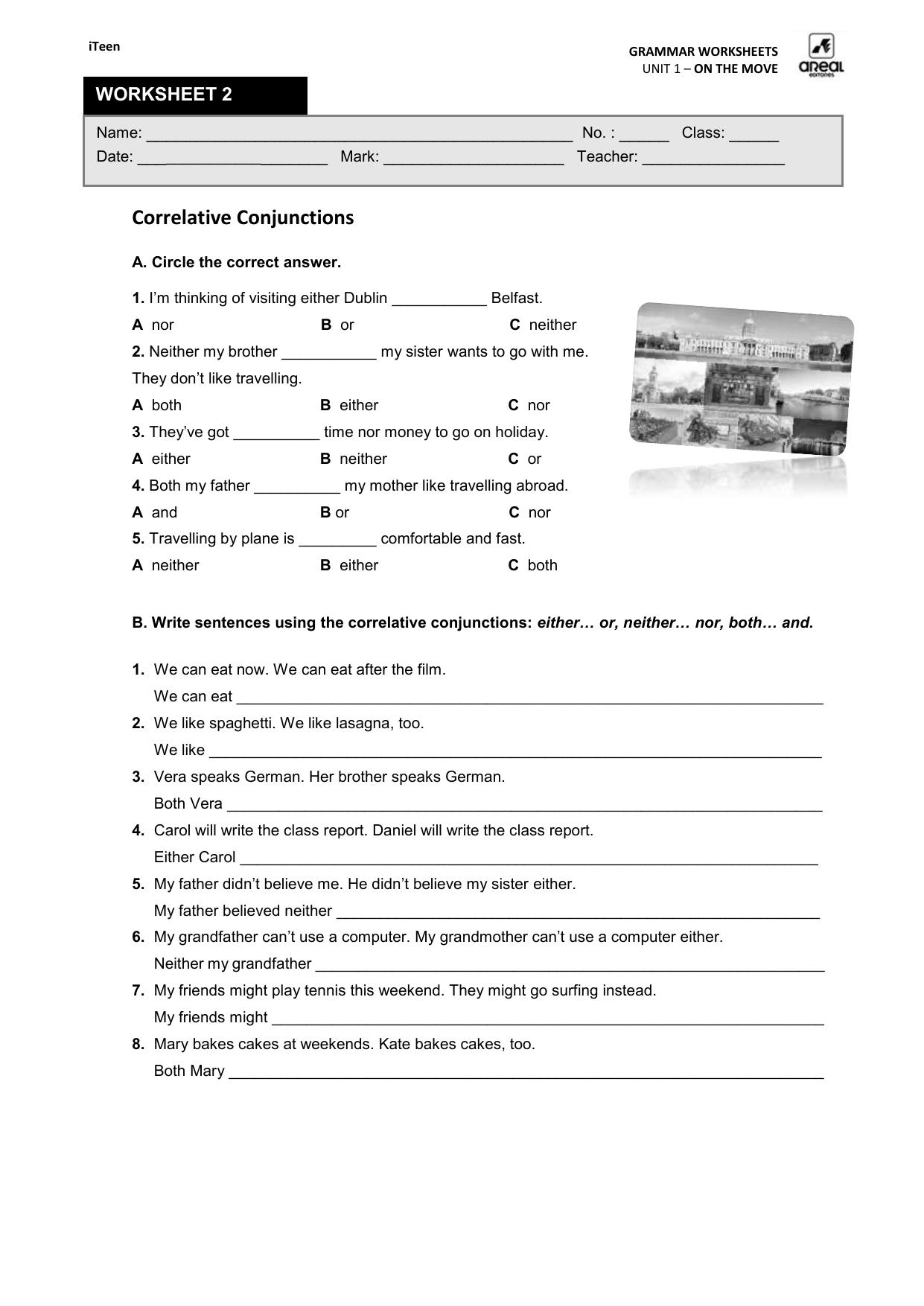 Worksheet Grammar