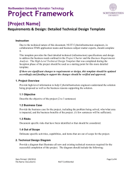 high level technical design template
