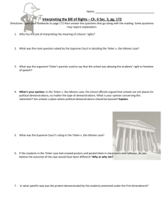 Interpreting the Bill of Rights – Ch. 6 Sec. 3, pg. 172