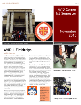 AVID Newsletter - Fort Bend Independent School District