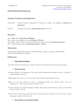 daniel hershenzons cv literatures cultures languages