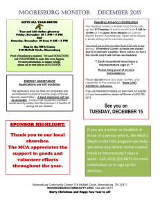 December 2015 - Mooresburg Community Association