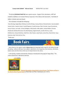 Carolyn Smith LIBRARY Hillcrest School June Newsletter