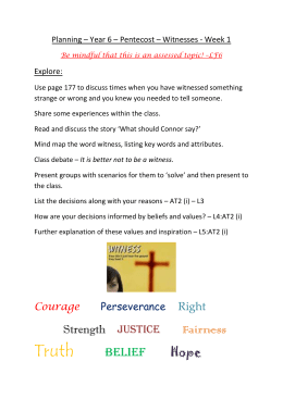 Year 6 - The Nottingham Roman Catholic Diocesan Education Service