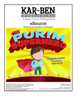 eSource Resources for Teachers and Students © KAR
