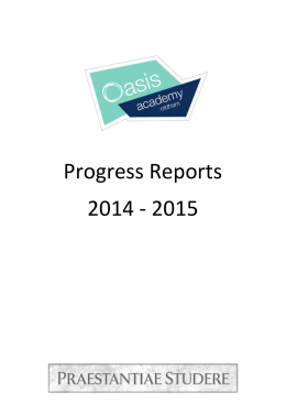 Explanation of Progress Reports
