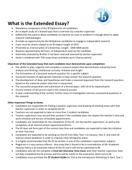 What is the Extended Essay?