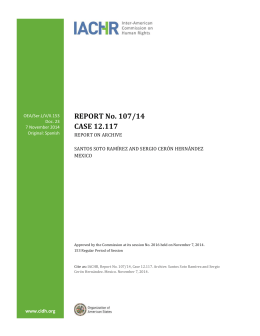 REPORT No. 107/14 CASE 12.117 - Organization of American States