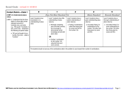 2nd grade Revised Rubric