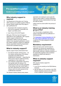 What is industry support?