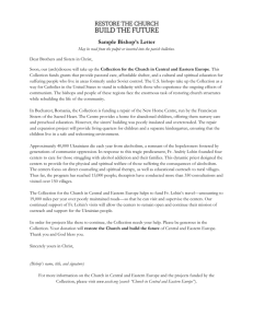 Sample Bishop`s Letter - United States Conference of Catholic Bishops