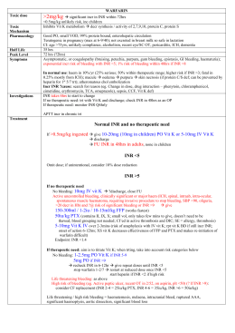 Warfarin OD fact sheet