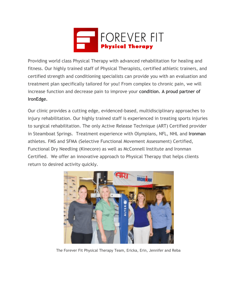 Meet The Forever Fit Physical Therapy Team