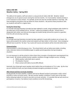 Salina USD 305 Weather Safety – Spring 2015