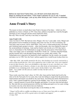 Anne Frank`s Story