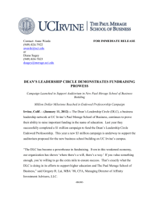 press release - The Paul Merage School of Business