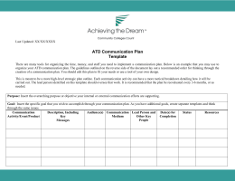 ATD Communication Plan Template