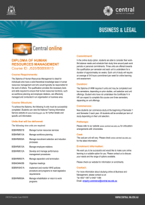 Diploma Human Resources J520_online courseflyer