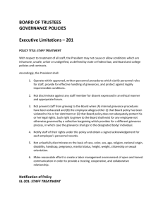Staff Treatment Policy Acknowledgement