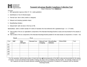 Neonatal Advantage Bundle Compliance Collection