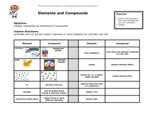 Element and Compounds