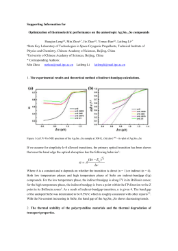 Supporting Information for Optimization of thermoelectric