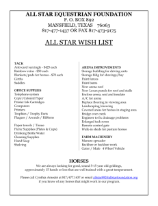 WISH LIST - All Star Equestrian Foundation