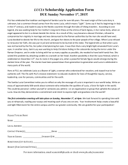 LUCIA Scholarship Application Form DUE Sunday November 1st
