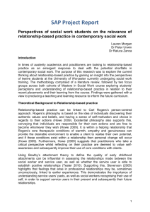 Perspectives of Social Work Practitioners and Students on