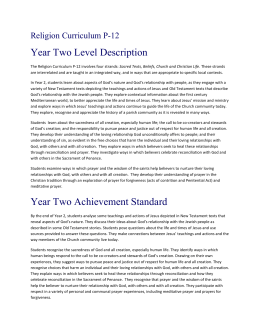 Year 02 Level Description and Achievement Standard 2015