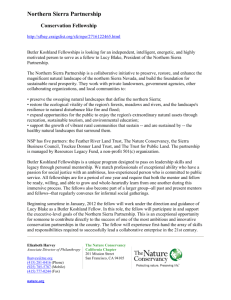 Northern Sierra Partnership Conservation Fellowship http://sfbay