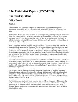 Federalist Papers Overview