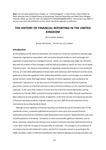 History of Financial Reporting in the UK