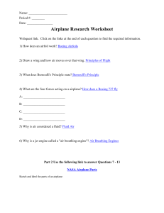 Airplane Research Worksheet: Answers