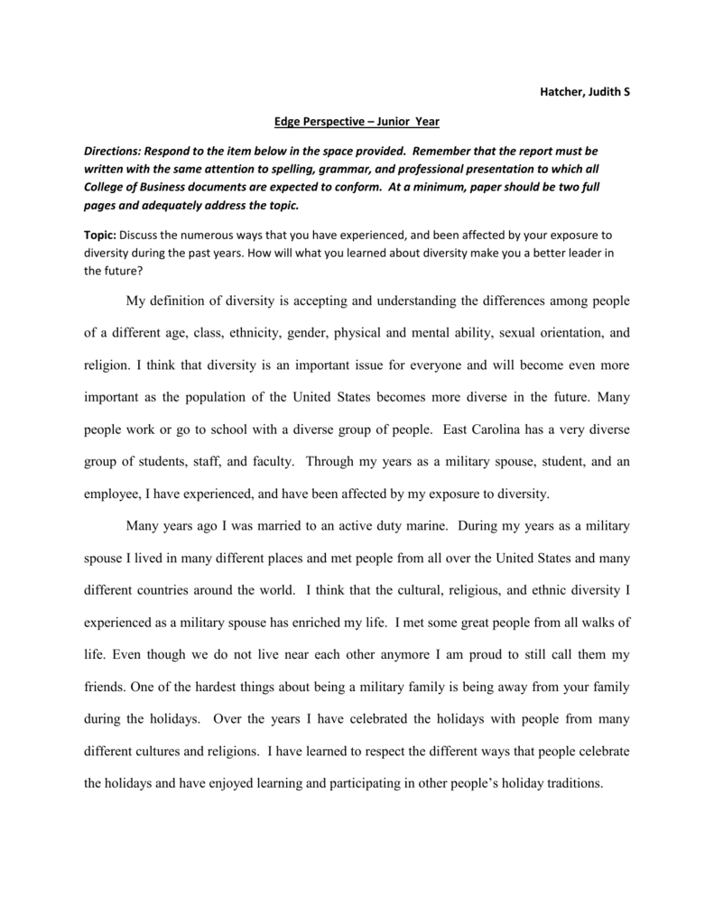 What Is A Thesis Of An Essay  Thesis Example Essay also Business Argumentative Essay Topics Edge Perspective  Diversity Essay How To Write A Thesis For A Narrative Essay