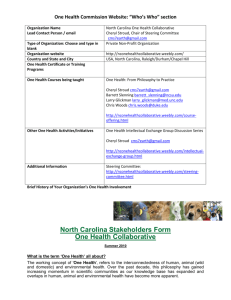 North Carolina One Health Collaborative