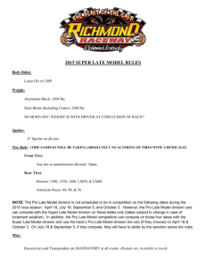 2015 super late model rules