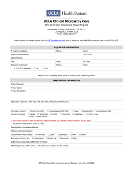 Next Generation Sequencing Service Request Form