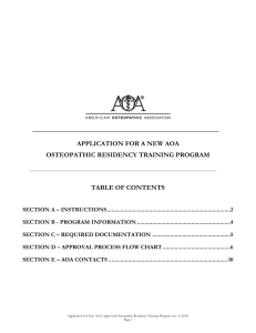 Application for New Residency Program - lmu