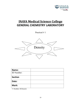 Practical 1,density - INAYA Medical College