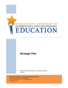 Our Strategy - Massachusetts Department of Education