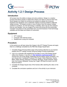 Activity 1.2.1 Design Process Introduction