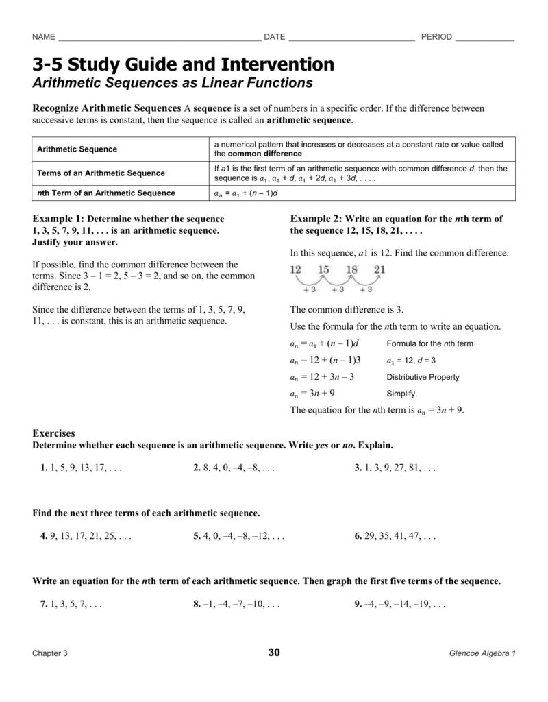 3 5 study guide and intervention rh studylib net 10-2 study guide and intervention solving quadratic equations by graphing answers 10 2 study guide and intervention answer key